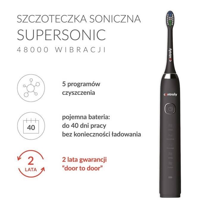 Controly Szczoteczka Supersonic Czarna