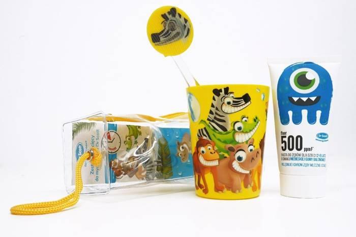 Dr Scott Zestaw Dziecięcy do Mycia Zębów - Guma Balonowa