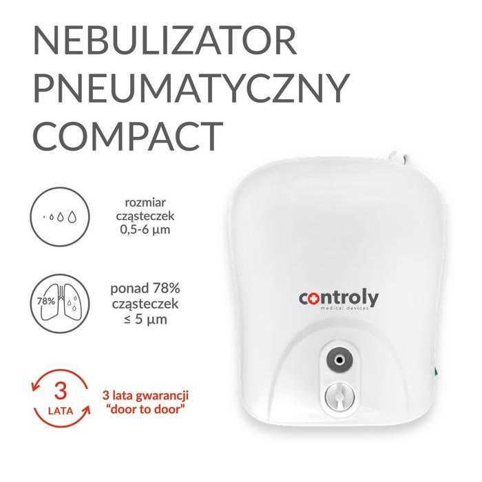 Nebulizator pneumatyczny COMPACT dla dzieci, dorosłych i niemowląt